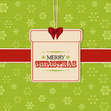 Christmas present label background Stock Photo