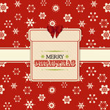 Christmas present label background red Royalty Free Stock Photography