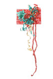 Christmas present with long ribbons vertical. Shot of Christmas present with long ribbons vertical Stock Photos