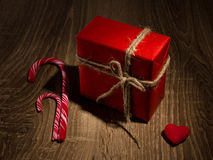Christmas present with love Royalty Free Stock Photography