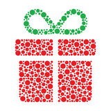 Christmas present made of circles Royalty Free Stock Photos