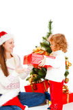 Christmas present for mom Royalty Free Stock Image