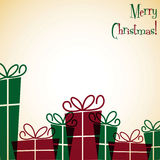 Christmas present overlay card Stock Photography