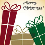 Christmas present overlay card. In vector format Stock Image