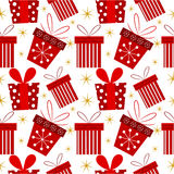 Christmas present pattern Stock Photography
