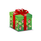 Christmas present and pattern Royalty Free Stock Image