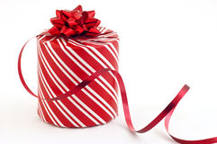 Christmas present and ribbon Royalty Free Stock Photos