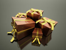 Christmas present with ribbon Stock Image