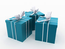 Christmas present with ribbon rendered Royalty Free Stock Photos
