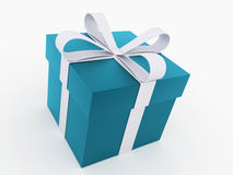 Christmas present with ribbon rendered Royalty Free Stock Images