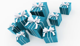 Christmas present with ribbon rendered Stock Photography