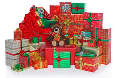 Christmas present sack and gifts. Royalty Free Stock Images