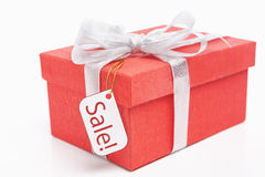 Christmas present for sale Royalty Free Stock Photography