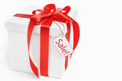 Christmas present for sale Stock Images