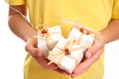Christmas Present Trio royalty free stock photo