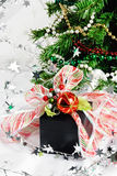 Christmas Present Under the Holiday Tree Royalty Free Stock Images