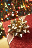 Christmas Present Under Tree Royalty Free Stock Photography
