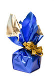 Christmas present at white background Royalty Free Stock Photos