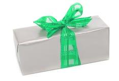 Christmas present on white Stock Photo