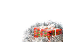 Christmas present. Wrapped gift. Royalty Free Stock Photo