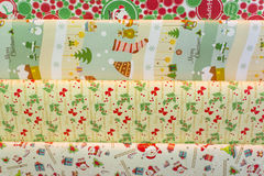 Christmas Present Wrapping Paper Stock Photo