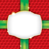 Christmas Present Wrapping Paper Background. A wrapped Christmas present wrapping paper background with a blank label. Vector EPS 10. File contains vector illustration