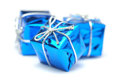 Christmas presents. On a white background Royalty Free Stock Photos