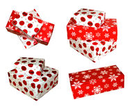 Christmas presents. Isolated christmas presents on white Stock Photo