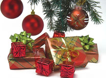 Christmas presents. Presents under the Christmas tree Royalty Free Stock Images