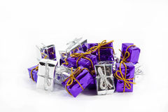 Christmas presents. Small christmas presents in a white background Royalty Free Stock Photography