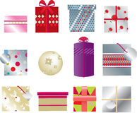 Christmas presents 2d Royalty Free Stock Images