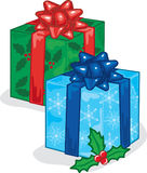 Christmas Presents. Full color vibrant illustration of beautifully wrapped christmas presents Stock Image