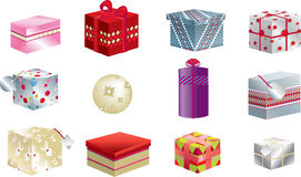 Christmas presents 3d Royalty Free Stock Photo