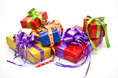 Christmas presents. Bright background with Christmas presents Royalty Free Stock Photos