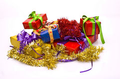 Christmas presents. Bright background with Christmas presents Royalty Free Stock Image