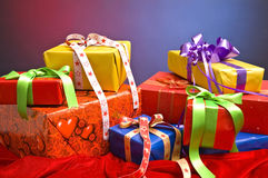 Christmas presents. Colorful background with Christmas presents Stock Images