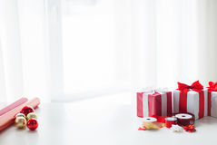 Christmas Presents And Decotarion Royalty Free Stock Photo