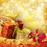 Christmas presents background Royalty Free Stock Image