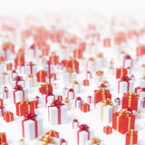 Christmas presents. Background - high quality 3D render Royalty Free Stock Photos