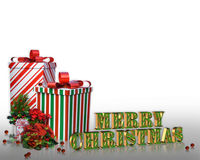 Christmas presents Border  Stock Images