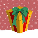 Christmas presents box Royalty Free Stock Images