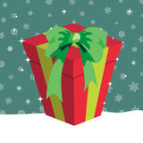 Christmas presents box Stock Images