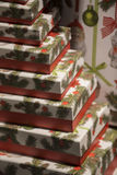 Christmas presents box Stock Photos