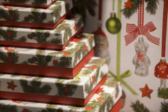 Christmas presents box Royalty Free Stock Photography