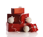 Christmas presents in boxes Royalty Free Stock Image