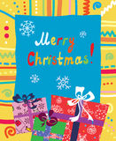 Christmas presents card Stock Photography