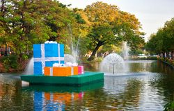 Christmas presents in chiang mai Royalty Free Stock Photos