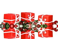 Christmas presents and christmas ornaments Royalty Free Stock Image