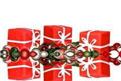 Christmas presents and christmas ornaments Royalty Free Stock Image