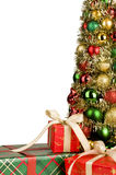 Christmas presents and Christmas tree Stock Photography